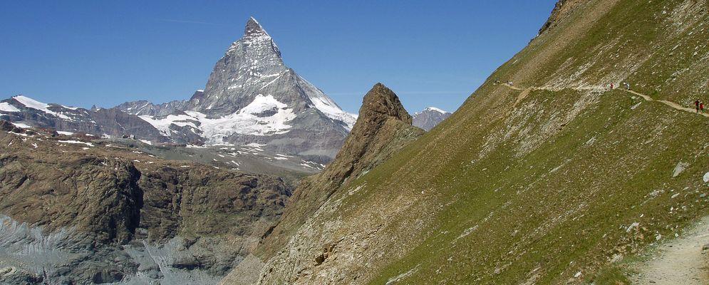 Kaum zu glauben aber das  Walliser Riffelhorn ist fast so hoch wie die Zugspitze...