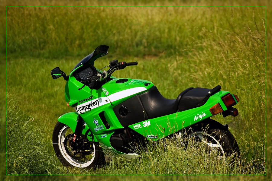 kawasaki gpx 600 r quotteam greenquot foto amp bild autos