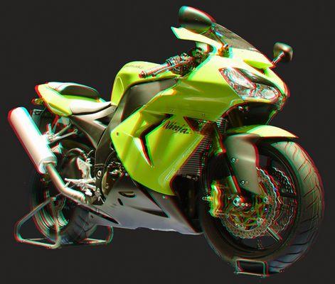 Kawasaki ZX10 (3D Anaglyphe)