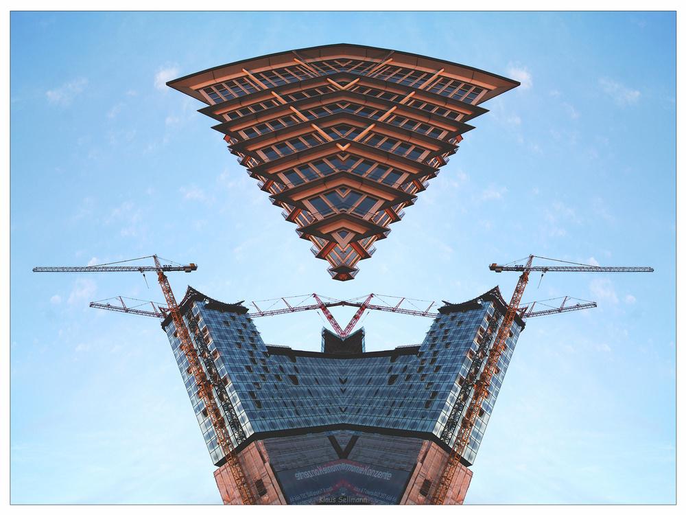 Kehrwiederspitze  über Elbphilharmonie