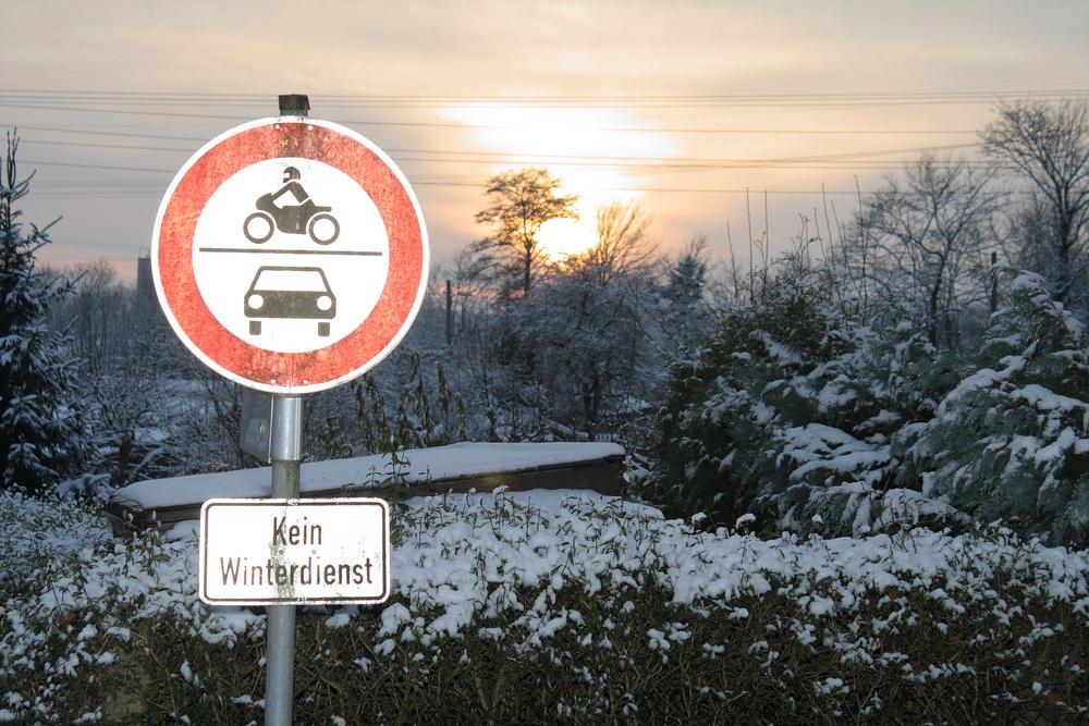 Kein Winterdienst