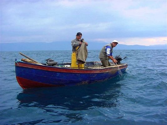 keine Fischerin vom Bodensee, Fischer aus Kroatien