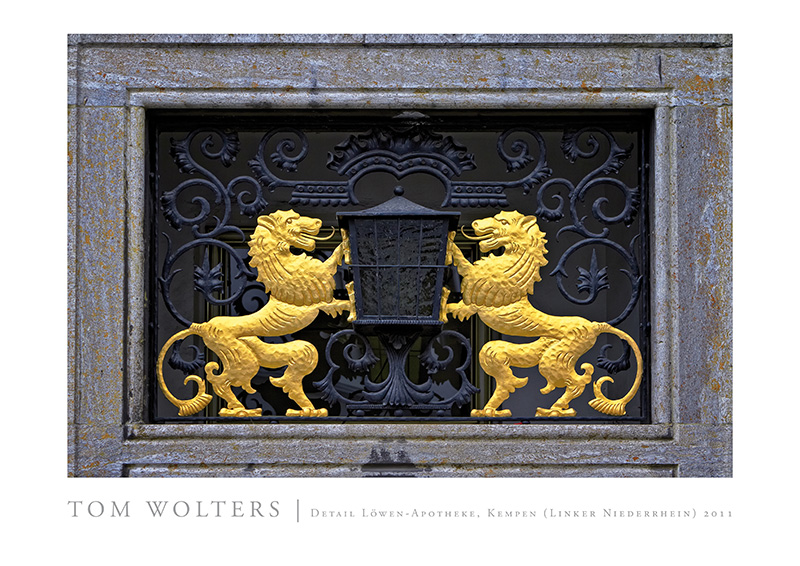 Kempen Poster | Detail Löwen-Apotheke, Kempen (Linker Niederrhein) 2011