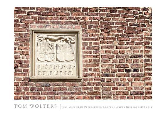 Kempen Poster | Wappen im Peterturm, Kempen (Linker Niederrhein) 2011