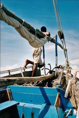 kenya - a beautiful day at the boat
