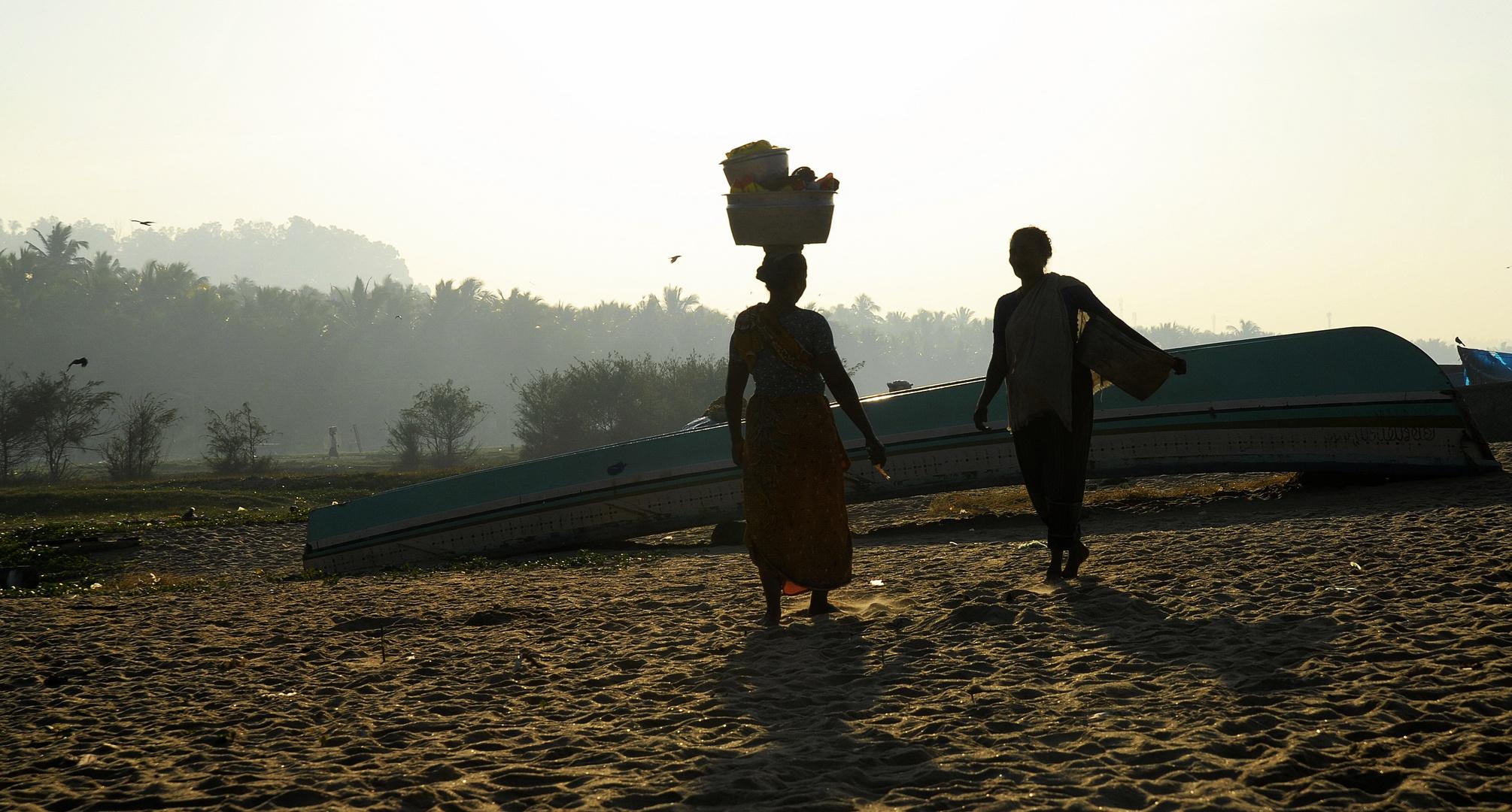 Kerala, Begegnung am Strand