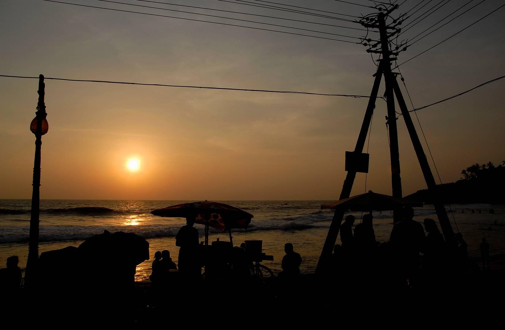 Kerala, Indien, Das Meer