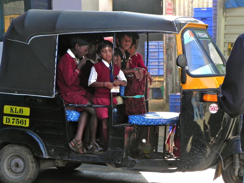 Kerala, School-Bus