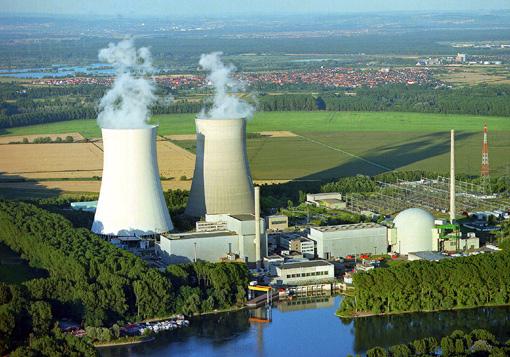 kernkraftwerk philippsburg, luftbild