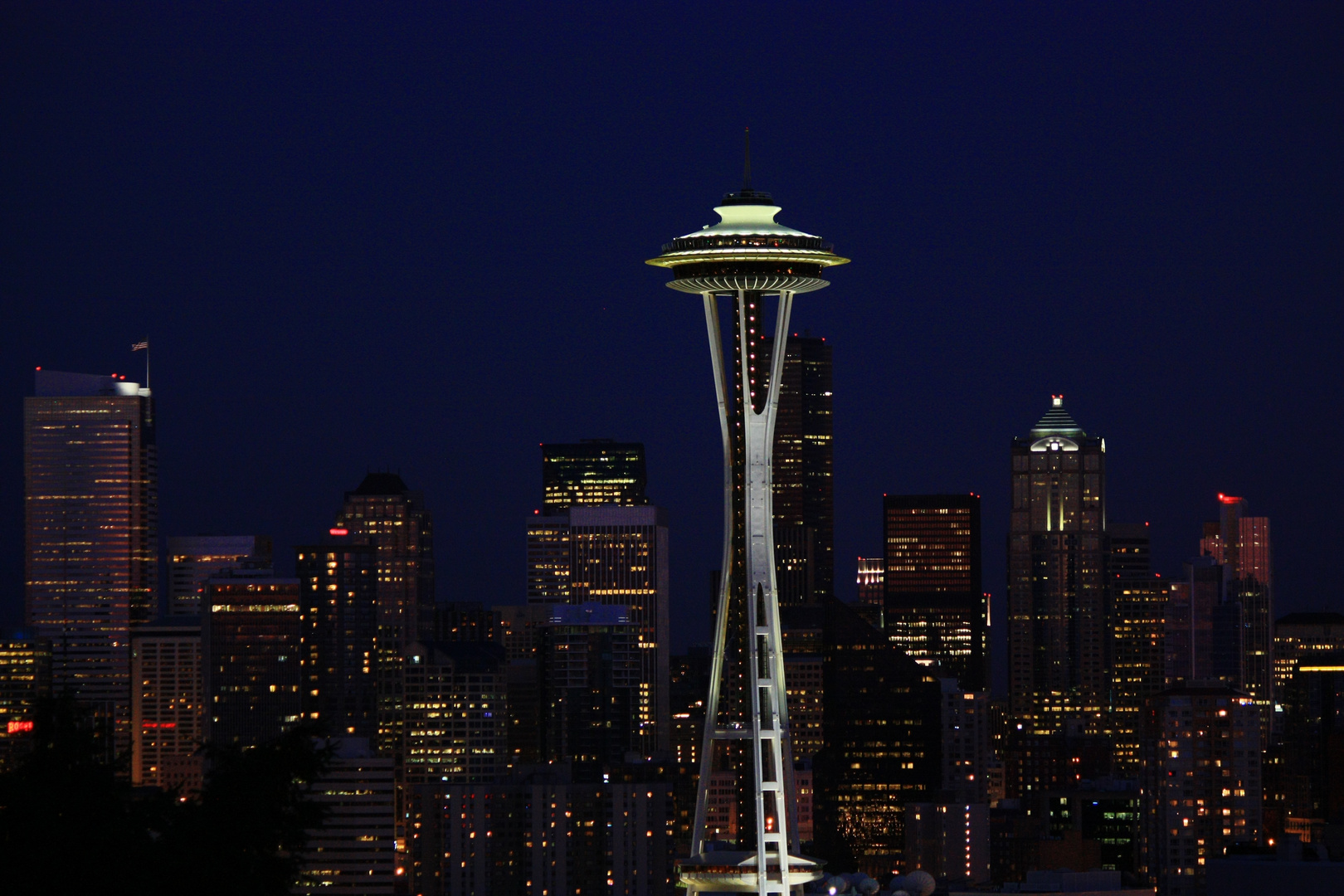 Kerry Park, Seattle Skyline bei Nacht