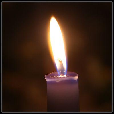 Kerze für den Frieden