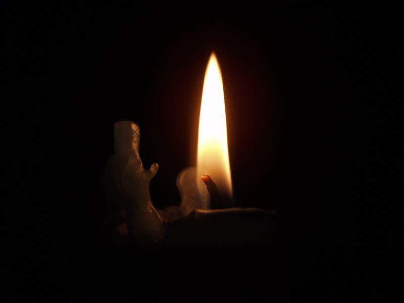 Kerze (romantic) Nur die Flamme