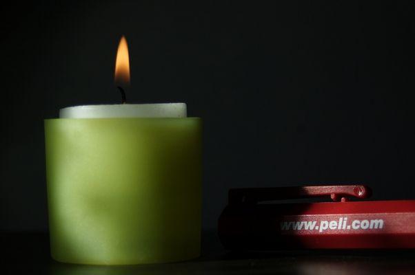 Kerze und Lampe