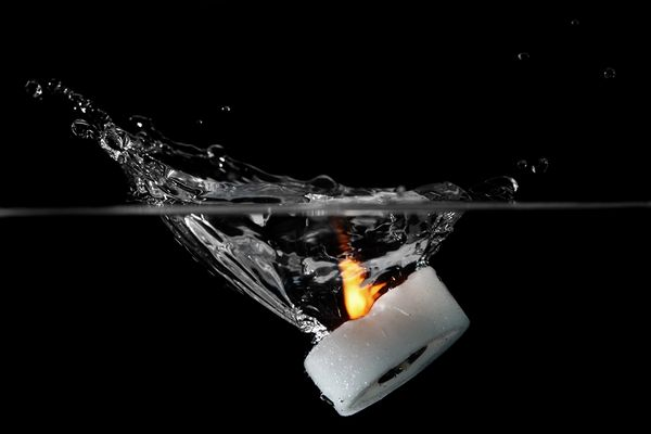 Kerze --> Wasser