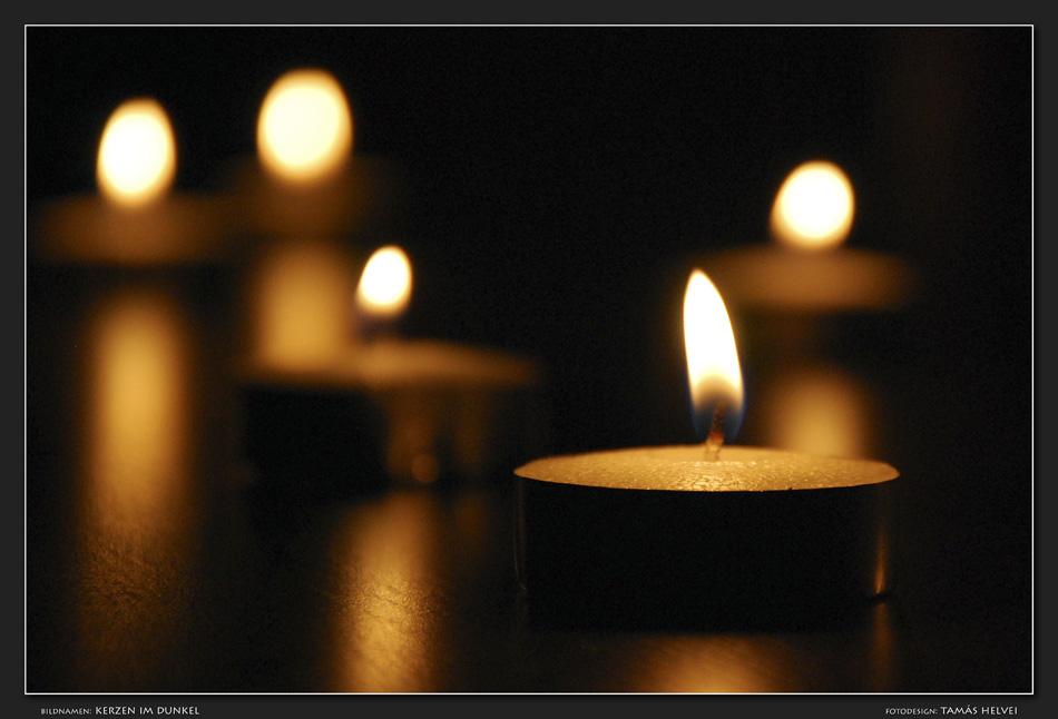 Kerzen im Dunkel