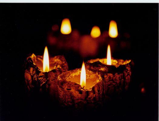Kerzen im Spiegel