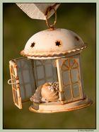 Kerzenhaus mit Muschel am Ferienhaus