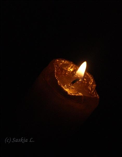 Kerzenlicht.
