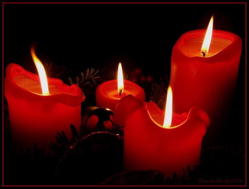 Kerzenschein...