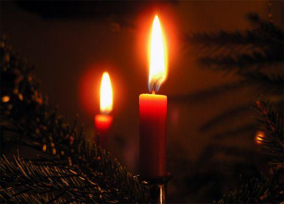 Kerzenschein am Heiligabend