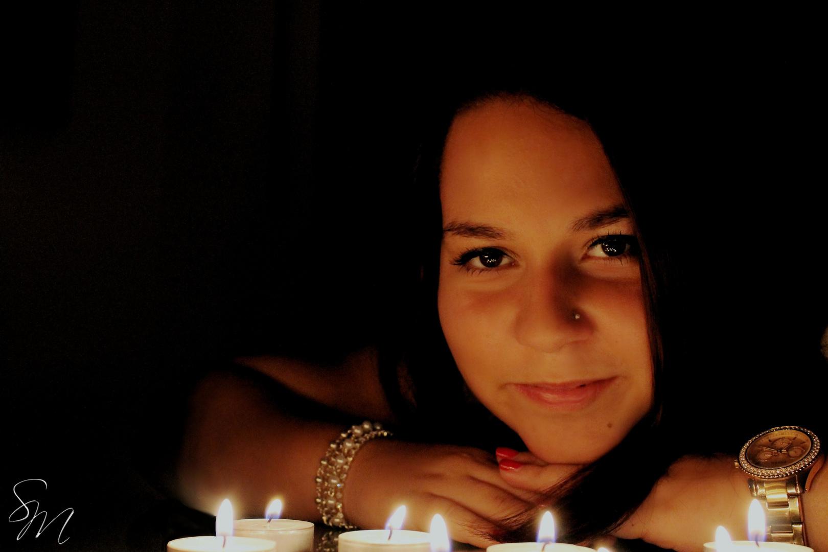 Kerzenschein.