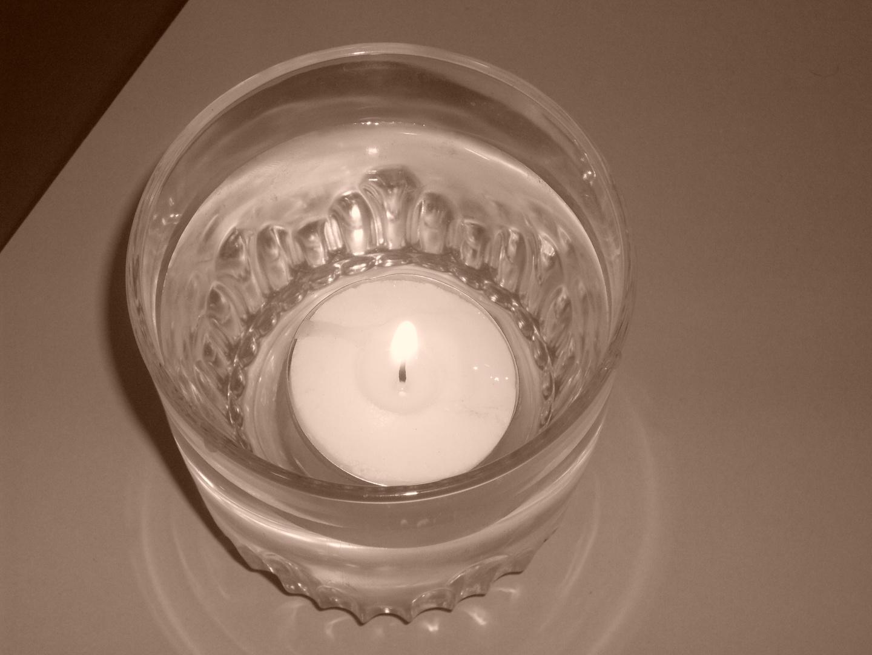 Kerzenschein unter Wasser ;-)