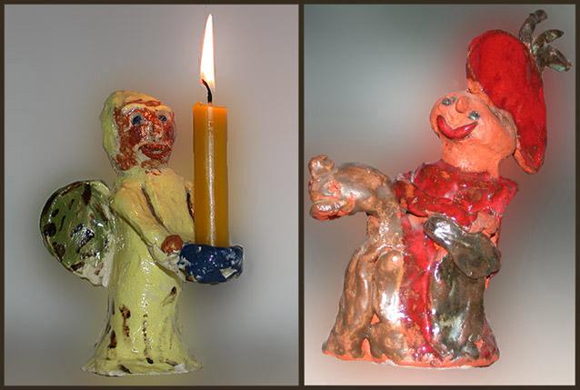 Kerzenträger und St. Martin zu Pferd