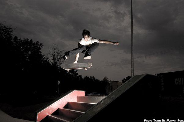 Kev - Kickflip BS Grab