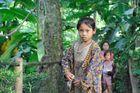 Khamu girls in the jungle