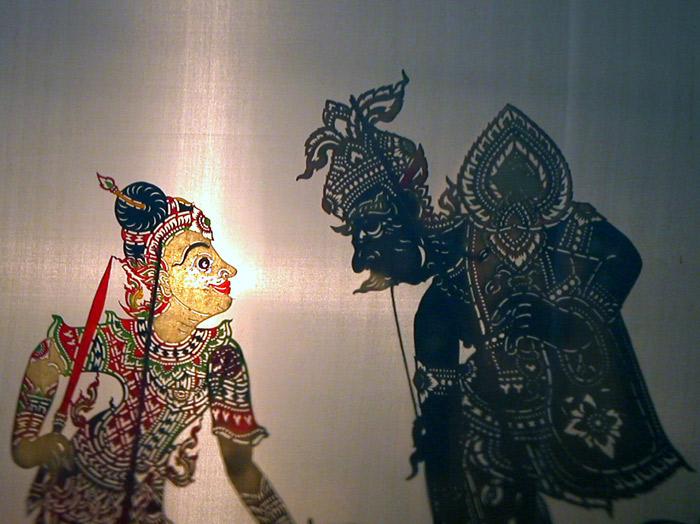 Khun Suchard Shadow puppet theatre, Nakhon Si Thammarath, south Thailand