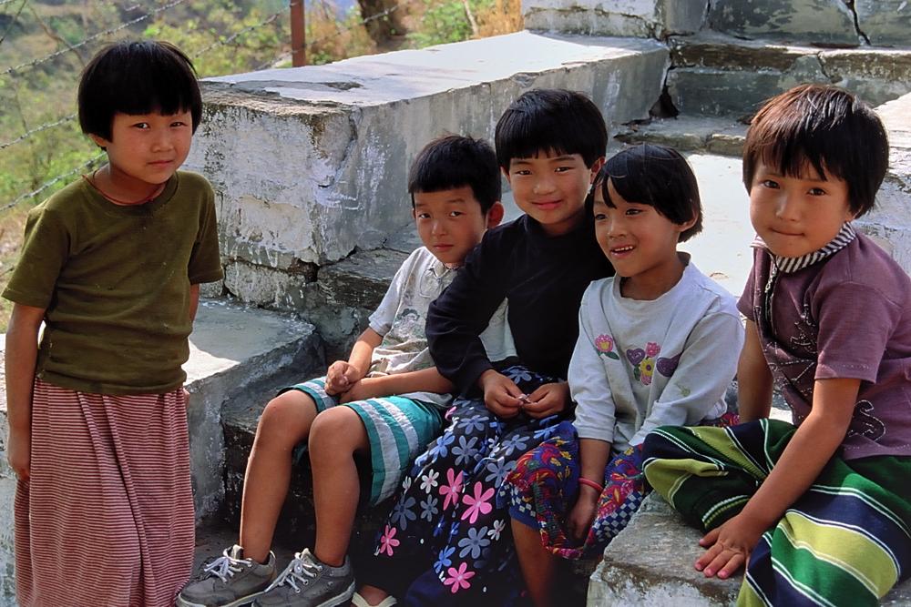 Kids in Trashigang