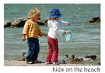 *kids on the beach*