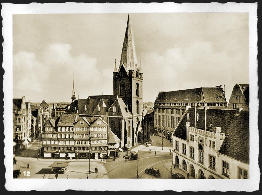 kiel alter markt um 1938 foto bild reportage dokumentation zeit geschichte deutsche. Black Bedroom Furniture Sets. Home Design Ideas