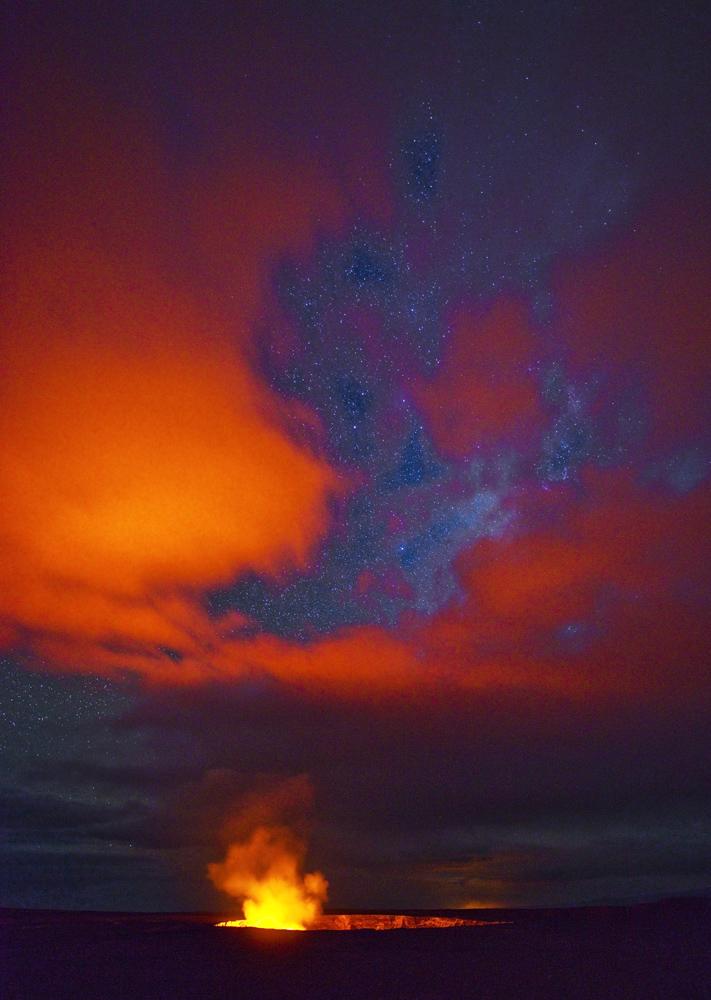 Kilauea feuert die Wolken an