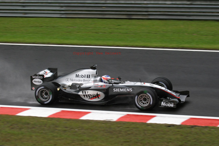 Kimi im Regen / Spa 2004