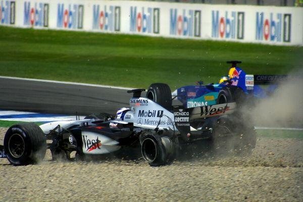 Kimi Räikkönens Reifenplatzer