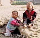 Kinder am Ayeyarwadi River Mandalay 2007