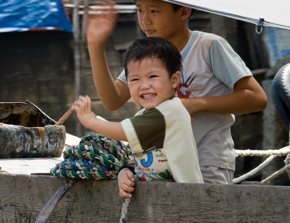 Kinder am Mekong