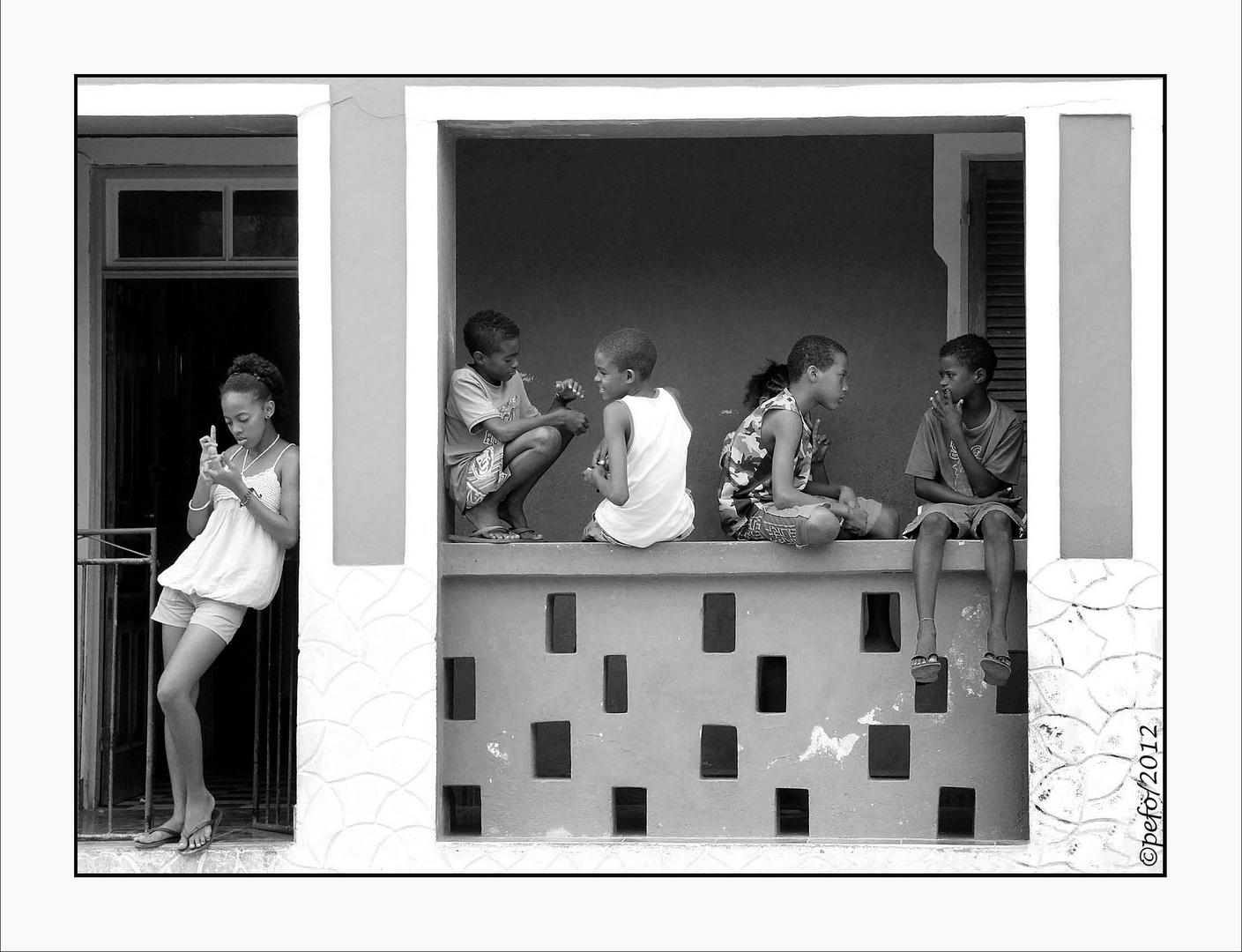 Kinder auf Boavista