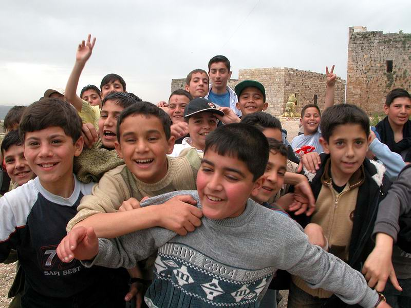 Kinder aus Syrien