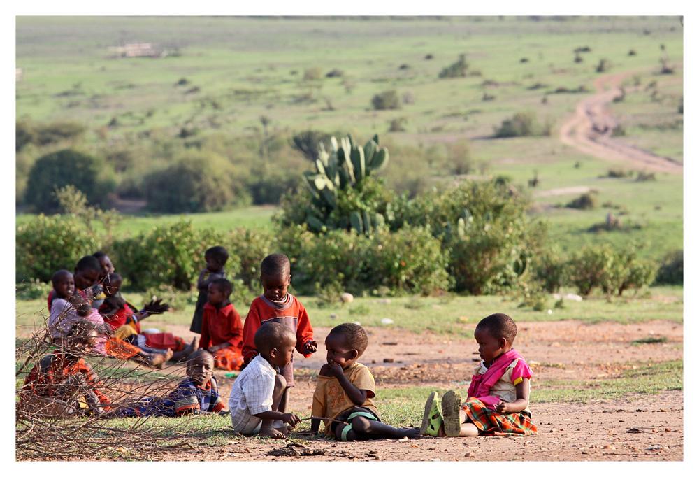 Kinder der Masei Mara - alleine sind sie nie!