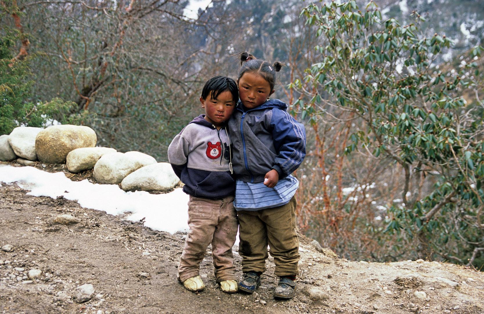 Kinder im Khumbu bei Thame
