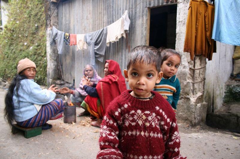 Kinder in Darjeeling