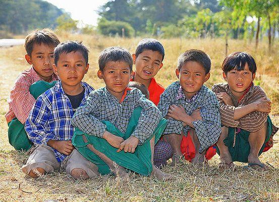 Kinder in Myanmar