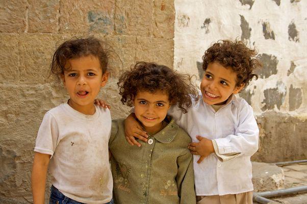 Kinderaugen farbig