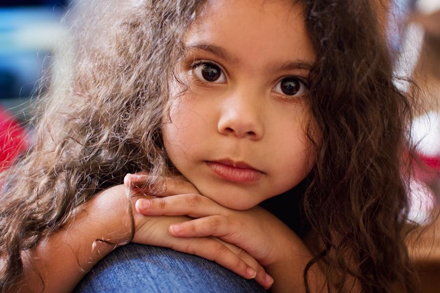 . Kinderaugen sehen in dein Herz .
