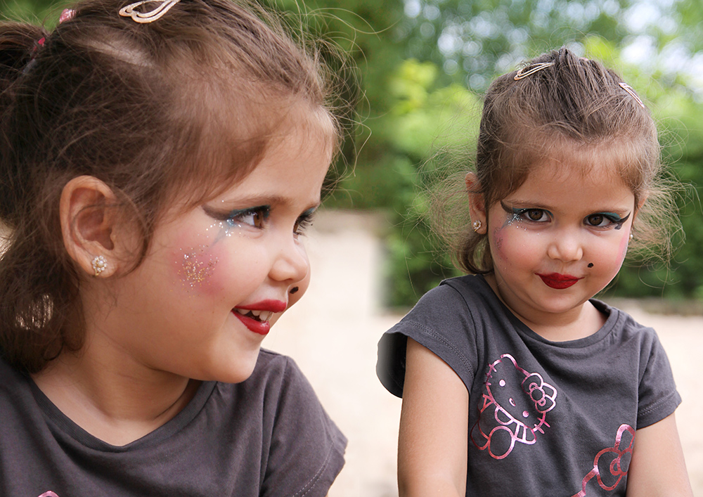Kindergarten Sommerfest an der Schminkstation