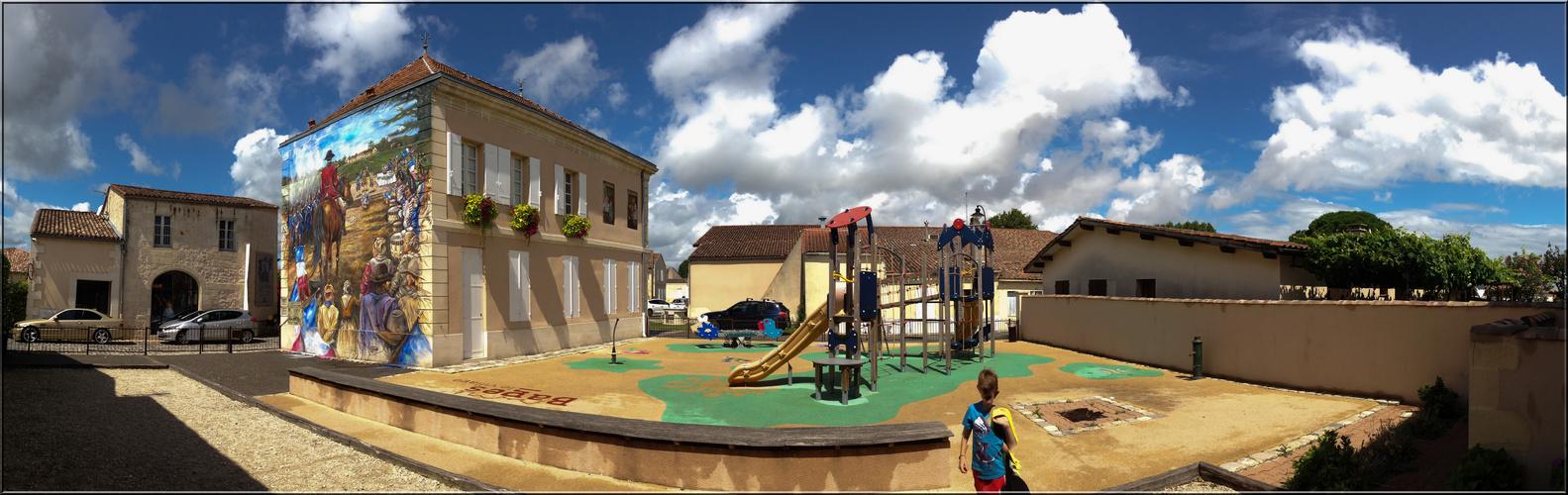 Kinderspielplatz beim Chateau Lynch