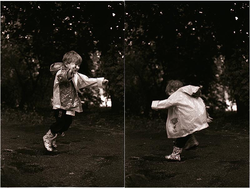 Kindertrendsport ...Pfützenhüpfen