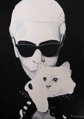 """""""King Karl"""" (Karl Lagerfeld) und seine geliebt """"Choupette"""""""